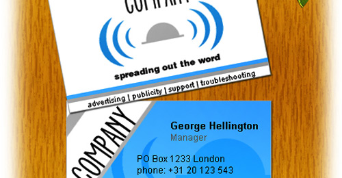 blue grey business card