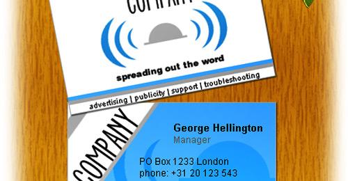 blue grey business card