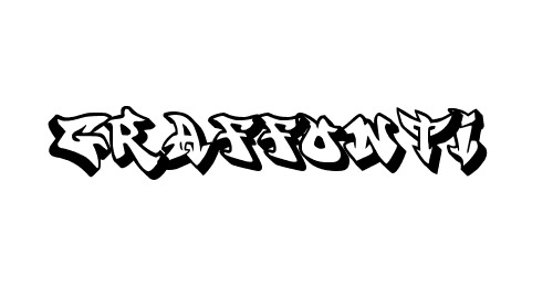 graffiti shadow font
