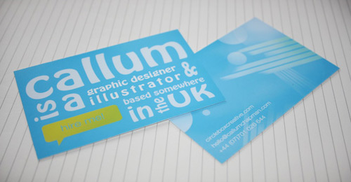 abstract business card tutorial