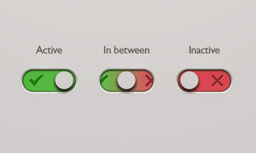 switch button psd format free