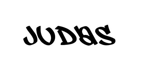 judas graffiti font