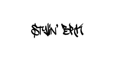 stylin graffiti font