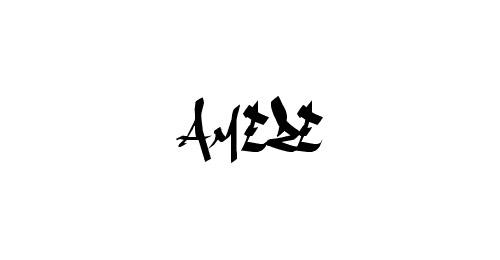 amezes graffiti font
