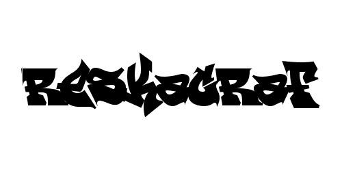 rest graffiti font