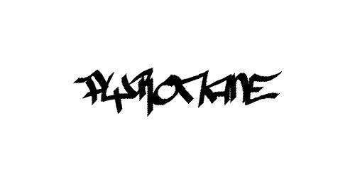 pyromane graffiti font