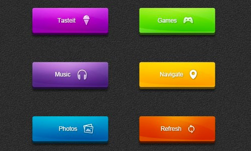 bright buttons psd free