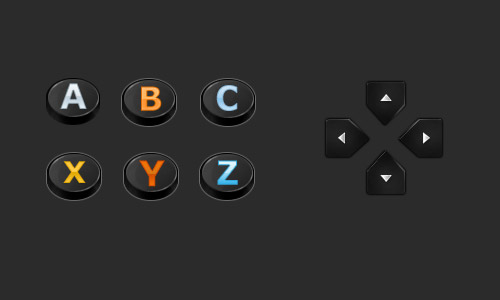 controller buttons psd free