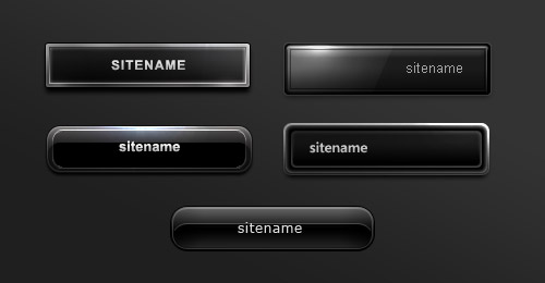 black buttons psd