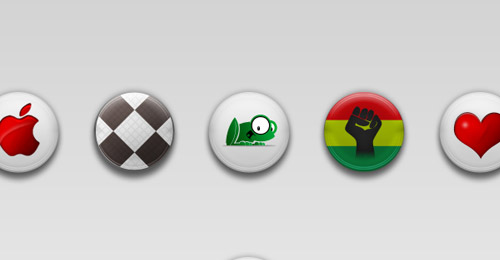 buttons badge psd