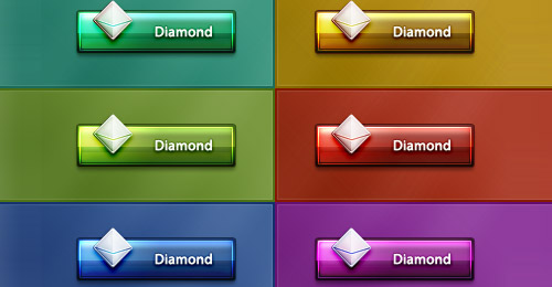 diamond buttons psd