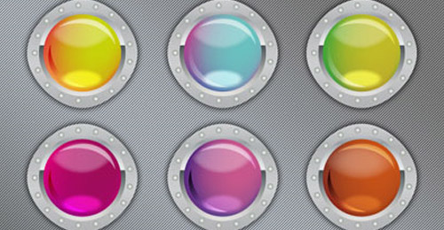 free buttons psd