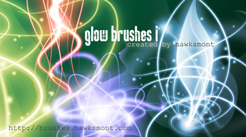 glow brush effect