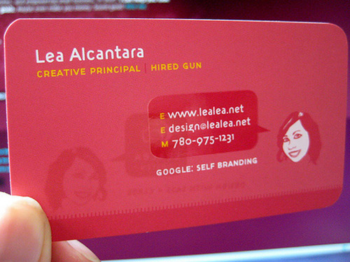 pretty business card design