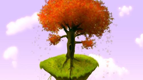 fantasy tree scene