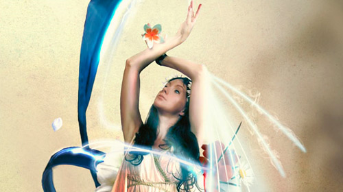 sparkling fantasy photo manipulation