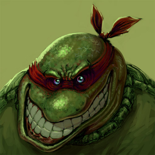 distorted ninja turtle