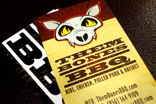 bones bbq business card