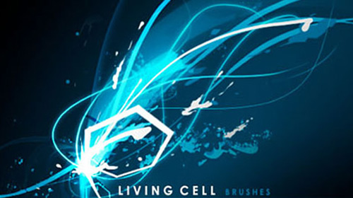 living cell light brush