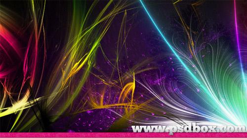 light fractal brush pack