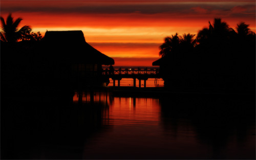 moorea sunset wallpaper
