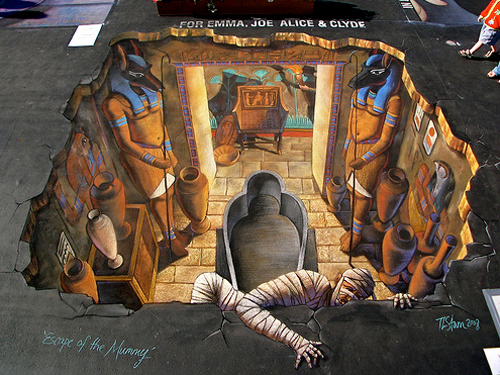 new 3d street painting