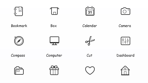 simple vector icon sets
