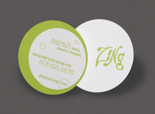 new pretty round business card