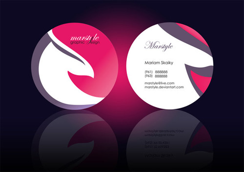 beautiful round die business card