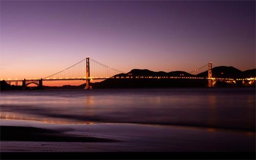 Evening Crossing, Bay Bridge, San Francisco, California  № 3720969  скачать