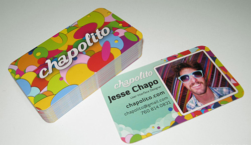 colorful round corner business card