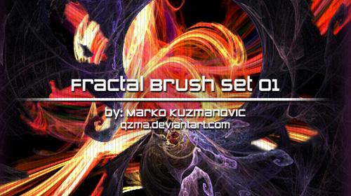 fractal brush set 01 by Qzma