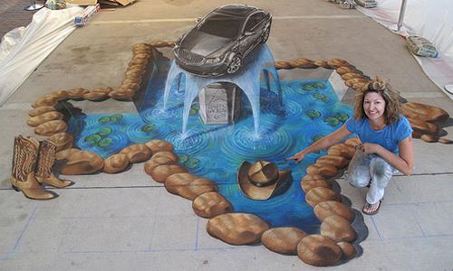new nice 3d street painting