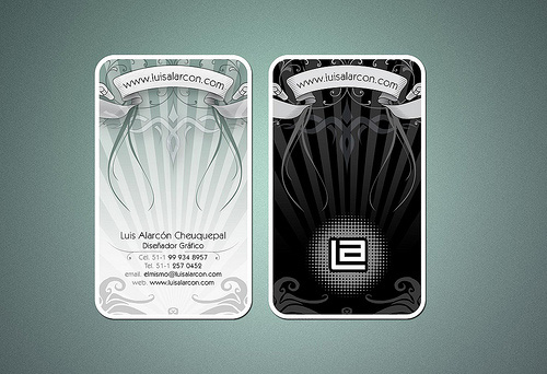 card style round corner business card