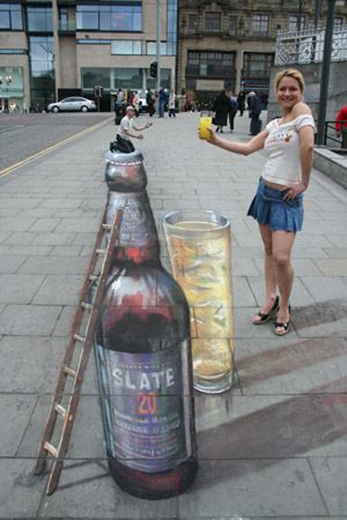 lovely street 3d painting