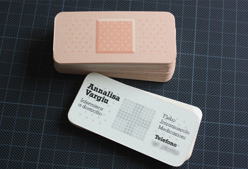bandage round corner business card