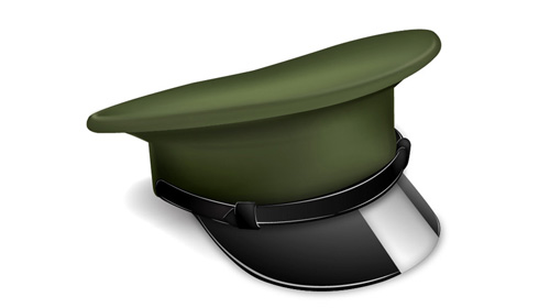military cap icon tutorial