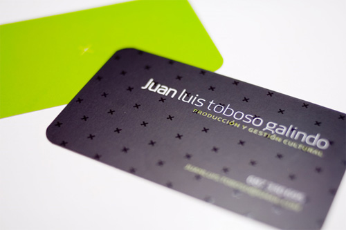 x design round corner business card