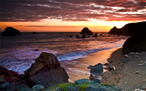 sonoma coast sunset wallpaper