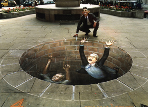 super awesome 3d street painting