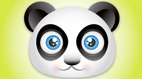 cute panda bear icon tutorial