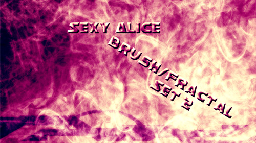sexy alice fractal+brush set2