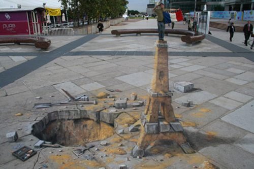 super amazing street 3d painting