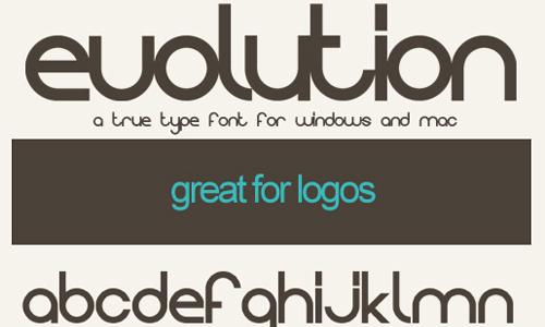 evolution true type font