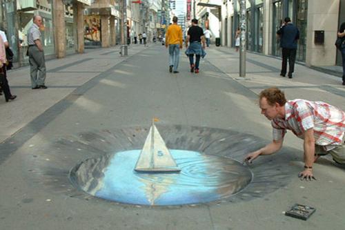 amazing 3d street painting