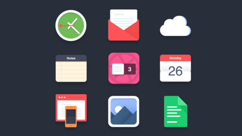 free mobile flat icons