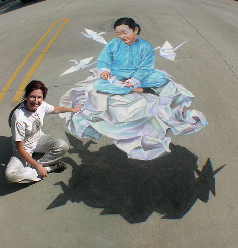 new cool 3d street painting
