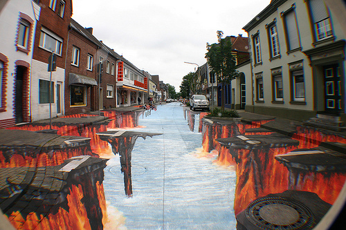 beautiful street 3d painting