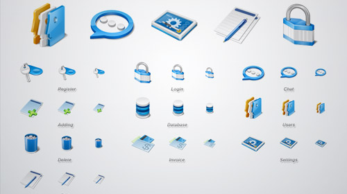 web applications icon set free