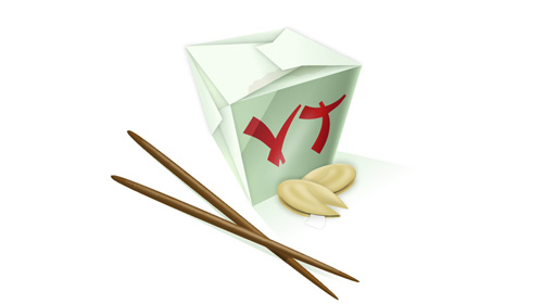 Chinese food icon tutorial